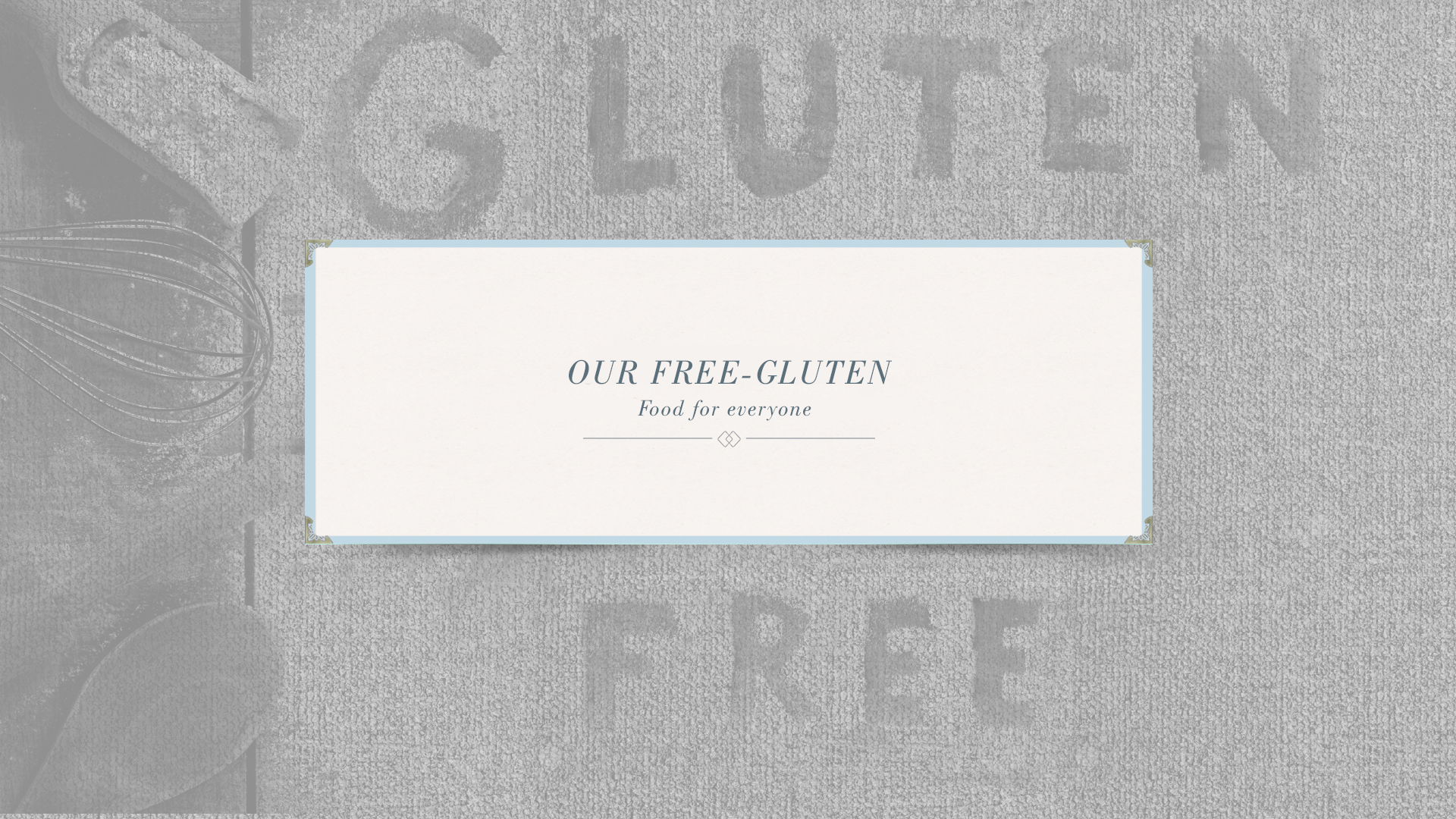 Gluten-Free Menu
